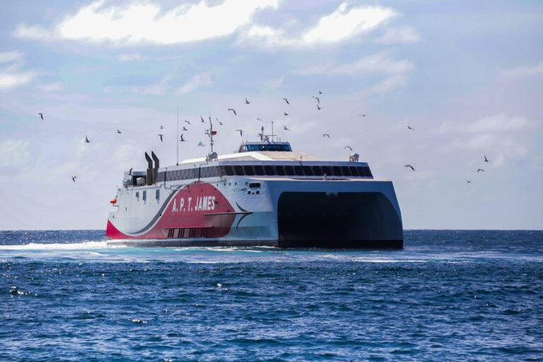 A.P.T. James sails into Scarborough Port