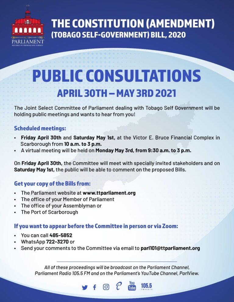The Constitution (Amendment) (Tobago Self-Government) Bill 2020